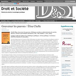 Gouverner les pauvres / Élisa Chelle