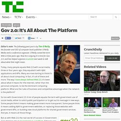 Gov 2.0: It's All About The Platform