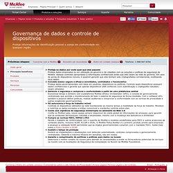 Governança de dados e controle de dispositivos