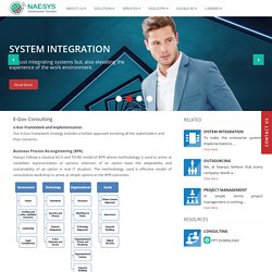 E-Governance Solutions and Consulting -Naesys Software Enterprise Application,DMS,BPM & Project Management