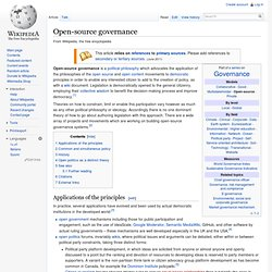 Open-source governance
