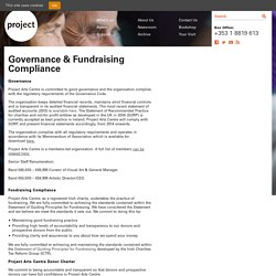 Governance & Fundraising Compliance - Project Arts Centre