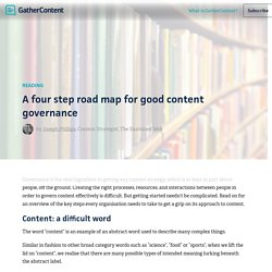 A four step road map for good content governance – GatherContent Blog