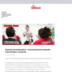 Board Governance – Succession Planning: Volleyball Canada