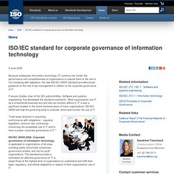IEC standard for corporate governance of information technology (2008-06-05