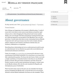 About governance - Mozilla en version française