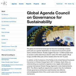 Global Agenda Council on Governance for Sustainability