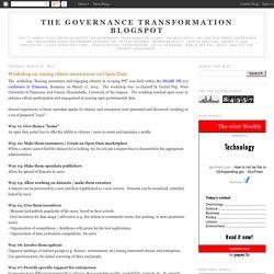 Workshop on raising citizen awarenness on Open Data
