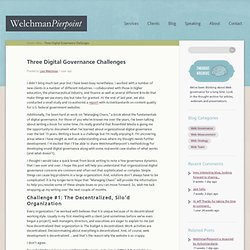 Three Digital Governance Challenges