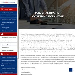 Personal and Governement Grants for Individuals