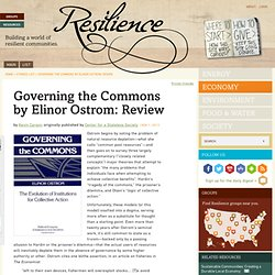 Governing the Commons by Elinor Ostrom: Review