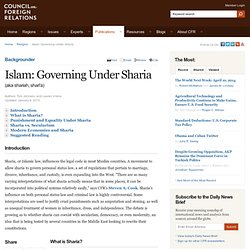 Islam: Governing Under Sharia