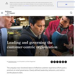 Leading and governing the customer-centric organization