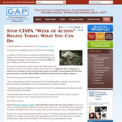 "Stop CISPA ""Week of Action"" Begins Today: What You Can Do"