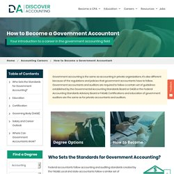 Government Accounting - Government Accountant Career, Salary & Degree Guide - Discover Accounting