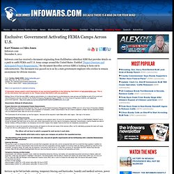 » Exclusive: Government Activating FEMA Camps Across U.S. Alex Jones