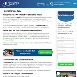 Does a Government IVA Cost Money? Advantages of an IVA.