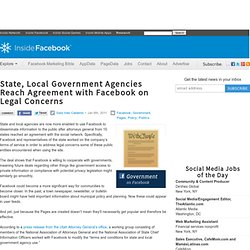 State, Local Government Agencies Reach Agreement with Facebook on Legal Concerns