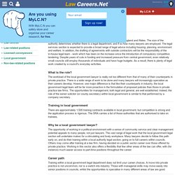 Local government - Alternative careers in and around the law
