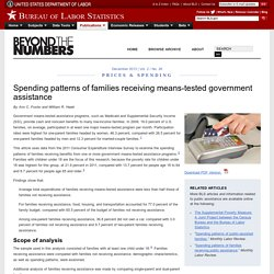 Spending patterns of families receiving means-tested government assistance : Beyond the Numbers: U.S. Bureau of Labor Statistics