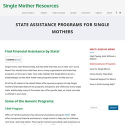State and Government Assistance Programs For Single Mothers