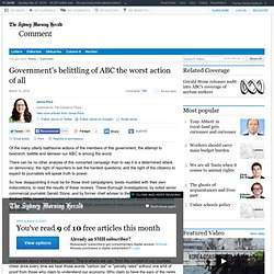 Government's belittling of ABC the worst action of all
