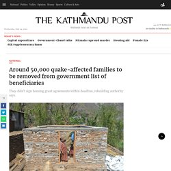 Around 50,000 quake-affected families to be removed from government list of beneficiaries