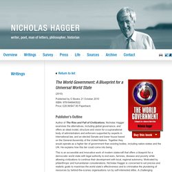 The World Government: A Blueprint for a Universal World State