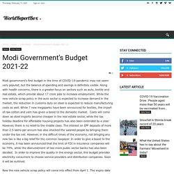 Modi Government's Budget 2021-22