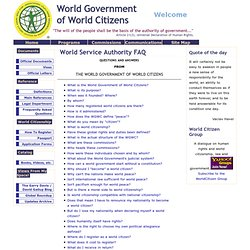 wcwfaq - World Government of World Citizen - Welcome