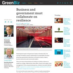 Business and government must collaborate on resilience