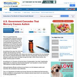 U.S. Government Concedes That Mercury Causes Autism