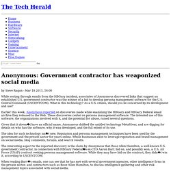 Anonymous: Government contractor has weaponized social media
