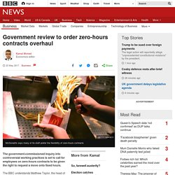 3.6.4 Government review to order zero-hours contracts overhaul