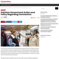 Pakistan Government Action and Policy Regarding Coronavirus