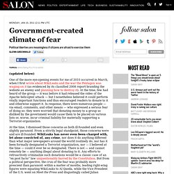 Government-created climate of fear - Glenn Greenwald