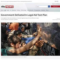 Government Defeated In Legal Aid Test Plan
