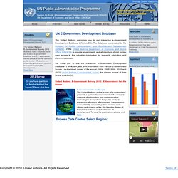 United Nations E-Government Development Knowledge Base