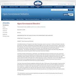 Open Gov't Directive