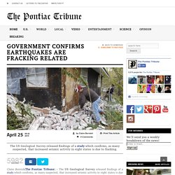 Government Confirms Earthquakes are Fracking Related