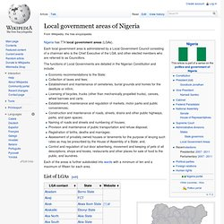Local government areas of Nigeria