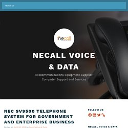 NEC SV9500 Telephone System for Government and Enterprise Business