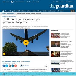 Heathrow airport expansion gets government approval