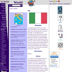 Italy: History, Geography, Government, & Culture