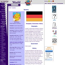 Germany: Maps, History, Geography, Government, Culture, Facts, Guide & Travel/Holidays/Cities