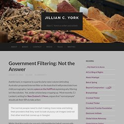 Government Filtering: Not the Answer