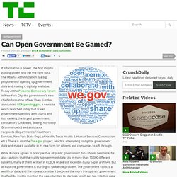 Can Open Government Be Gamed?