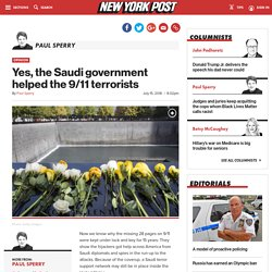 Yes, the Saudi government helped the 9/11 terrorists