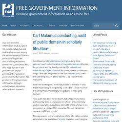 Free Government Information (FGI) | Because government information needs to be free