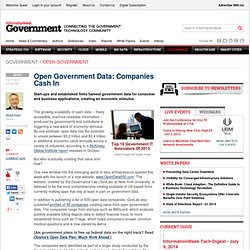 Open Government Data: Companies Cash In